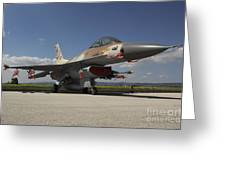 An F-16c Barak Of The Israeli Air Force Greeting Card