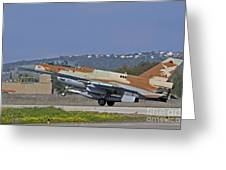 An F-16d Barak Of The Israeli Air Force Greeting Card