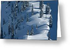 Backcountry Ski Traverse In Glacier Greeting Card