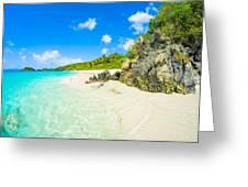 Beautiful Caribbean Beach Greeting Card