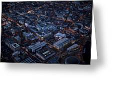 Belfast At Night, Northern Ireland Greeting Card