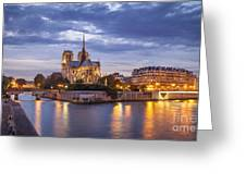 Cathedral Notre Dame Greeting Card by Brian Jannsen
