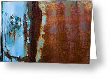 Colored Rust Metal Greeting Card