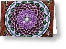 Cosmic Flower Mandala 6 Greeting Card
