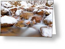 9 Degrees Greeting Card