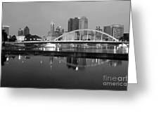 Downtown Skyline Of Columbus Ohio Greeting Card