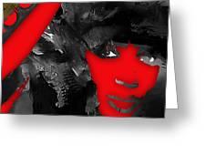 Empires Naomi Campbell Camilla Greeting Card