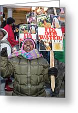 Flint Drinking Water Protest Greeting Card