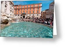 Fontana Di Trevi In Rome Greeting Card