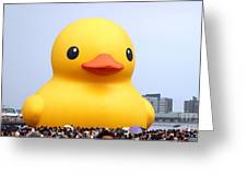 Giant Rubber Duck Visits Taiwan Greeting Card