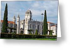 Hieronymites Monastery In Lisbon Greeting Card