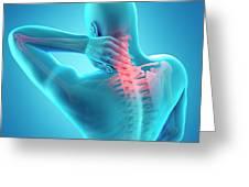 Human Neck Pain Greeting Card