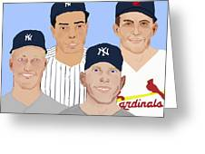 9-inning Legends Greeting Card