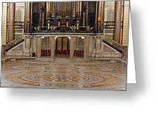 Interior Of St Georges Hall Liverpool Uk Greeting Card