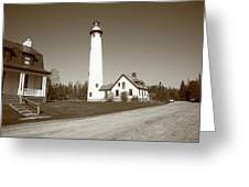 Lighthouse - Presque Isle Michigan Greeting Card