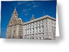 Liverpool's World Heritage Status Waterfront Buildings Greeting Card