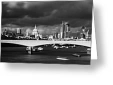 London  Skyline Waterloo  Bridge  Greeting Card