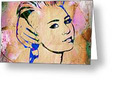 Miley Cyrus Collection Greeting Card