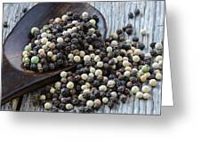 Peppercorn And Spoon Greeting Card