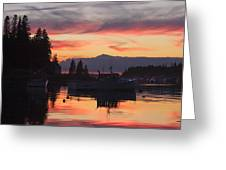 Port Clyde Maine Fishing Boats At Sunset Greeting Card