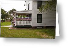 Ryckman House In Melbourne Beach Florida Greeting Card by Allan  Hughes