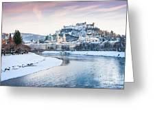 Salzburg In Winter Greeting Card