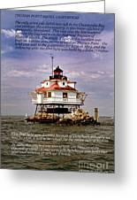 Thomas Point Shoal Lighthouse Greeting Card