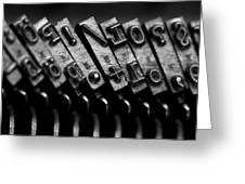 Typewriter Keys Greeting Card