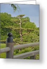 Asian Garden Scene Greeting Card