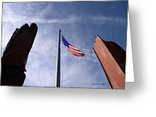 911 Tribute At Winslow Arizona Greeting Card