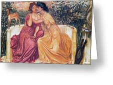 Sappho And Erinna In A Garden Greeting Card