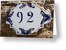 92 Greeting Card