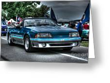 92 Mustang Gt Greeting Card