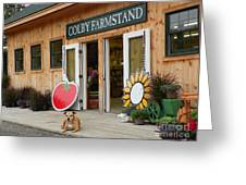 #923 D720 Colby Farm Stand Greeting Card