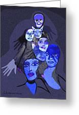957 - Boom Doom Hallucination   Greeting Card by Irmgard Schoendorf Welch