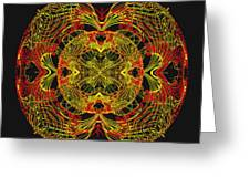 995 - Mandala In Earth Colours   Greeting Card