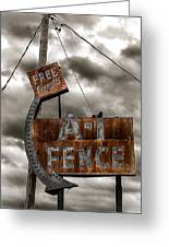 A-1 Fence Greeting Card