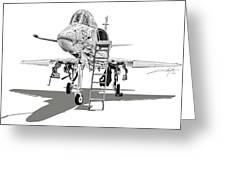 Ta-4j Skyhawk Greeting Card