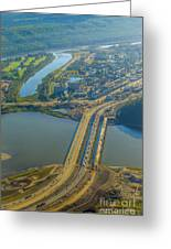 Fort Mcmurray From The Sky Greeting Card