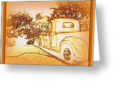 A And W Drive In Greeting Card by Bobbee Rickard