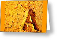 A As In Alphabet  Greeting Card
