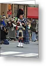 A Bagpiper Posing At The 2009 New York St. Patrick Day Parade Greeting Card