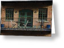 A Balcony On The River Aire Greeting Card