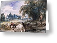 A Barge On The Stour Greeting Card