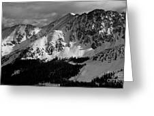 A Basin In Black And White Greeting Card