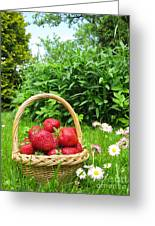A Basket Of Strawberries Greeting Card