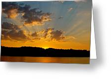 A Bay Sunset Greeting Card