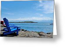 A Beach Chair Afternoon Greeting Card