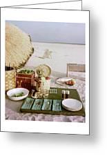 A Beach Picnic Greeting Card