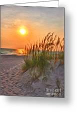 A Beach Sunset Greeting Card